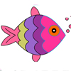 Cute Fish Coloring  Category: Co