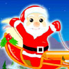 Santa Claus Flying